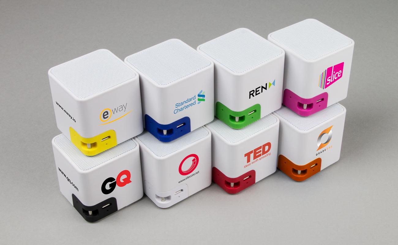Cube - Trådløse Høytaler Med Logo