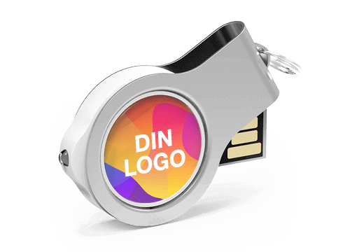 Light - USB Minne Med Logo