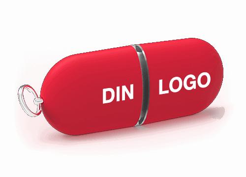 Pod - USB Minne Med Logo