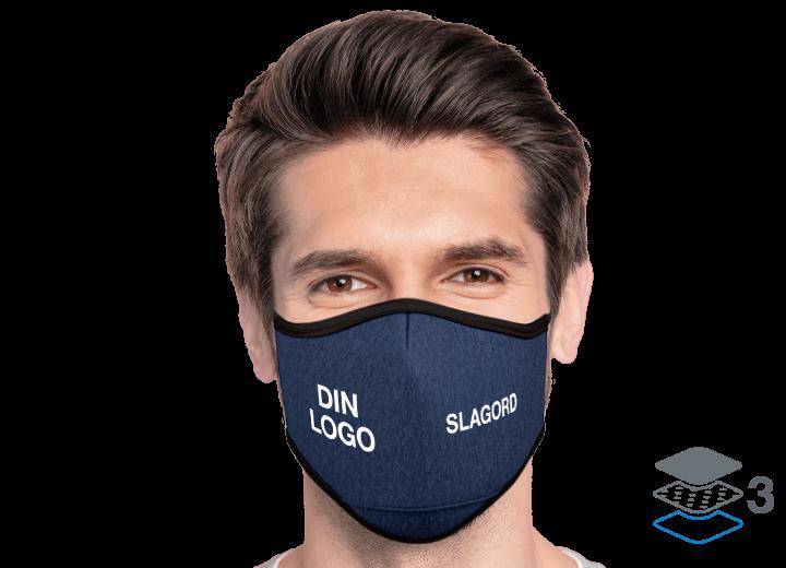 Denim - Skreddersydde beskyttende tøymunnbind