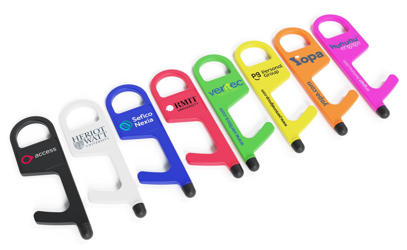 Buddy - Berøringsfri døråpner med logo