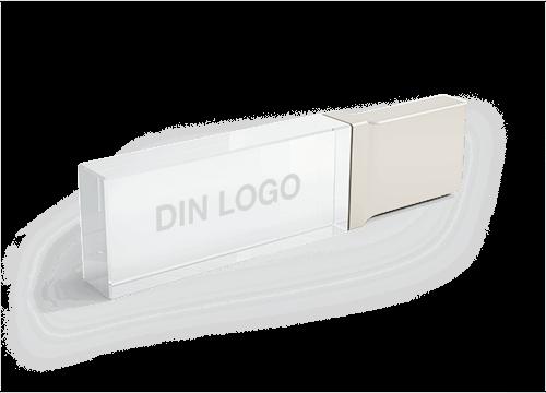 Crystal - USB Minne Med Logo