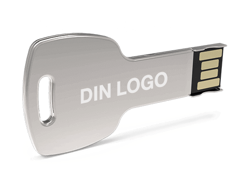 Key - USB Minne Med Logo
