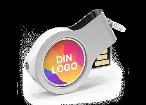 Light - USB Minne Med Logo